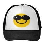 Cool dude smiley trucker hats