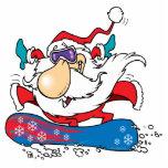 cool dude snowboarding santa claus cut outs