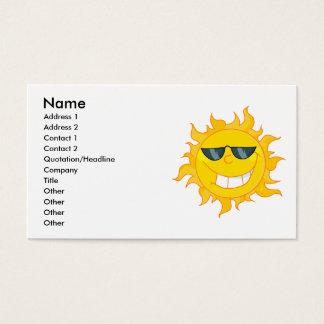cool dude sun sunshine business card
