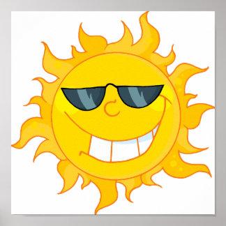 cool dude sun sunshine print