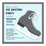 Cool Dudes Ice Skating Birthday Party Invitation