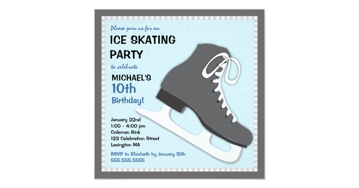 Ice Skating Party Invitations - Best Printable Invitation Design ...