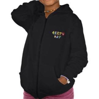 Cool Earth Day Custom Girls Zip Hoodie