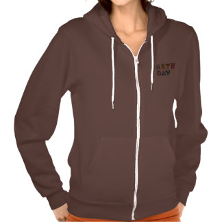Cool Earth Day Custom Women Flex Fleece Zip Hoodie
