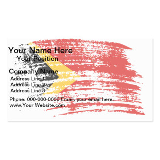 Cool East Timorese flag design Business Card