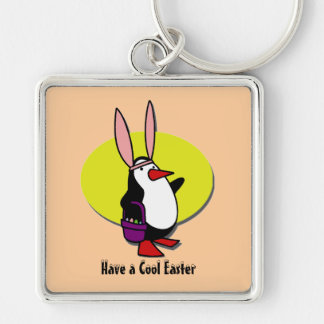 COOL EASTER BUNNY PENGUIN KEY CHAIN
