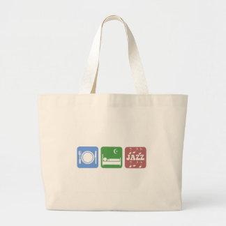 Cool eat sleep jazz jumbo tote bag