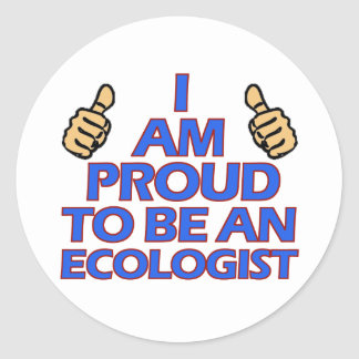 cool Ecologist designs Classic Round Sticker