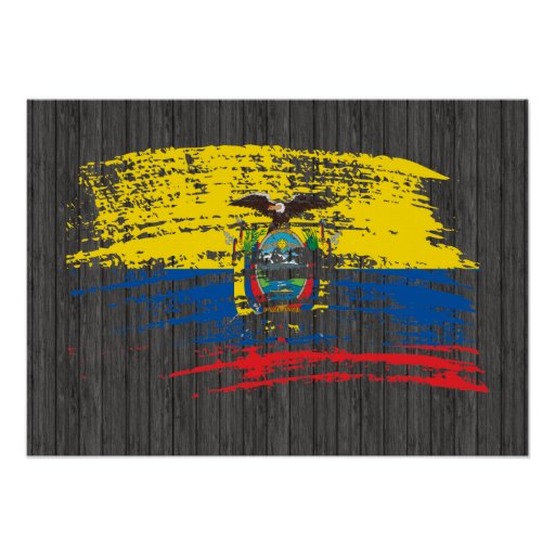 Cool Ecuadorean flag design Posters