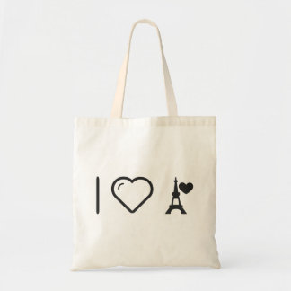 Cool Eiffel Tower Budget Tote Bag
