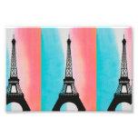 Cool Eiffel Tower Paris colourful background Photo Print