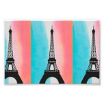 Cool Eiffel Tower Paris colourful background Photographic Print