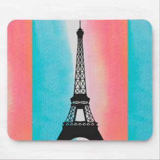 Cool Eiffel Tower Paris iron colourful background Mouse Pad