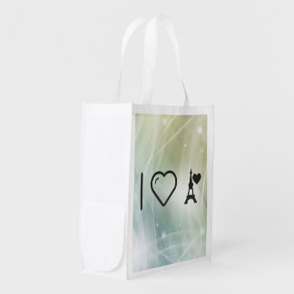 Cool Eiffel Tower Reusable Grocery Bag