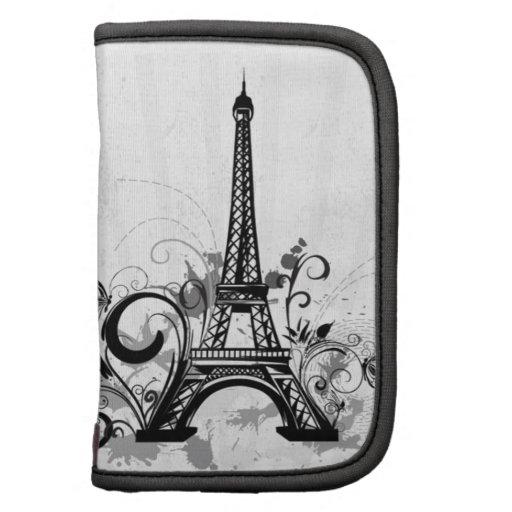 Cool Eiffel Tower swirls dots splatters butterfly Planner