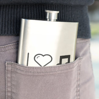 Cool Eighth Notes Hip Flask