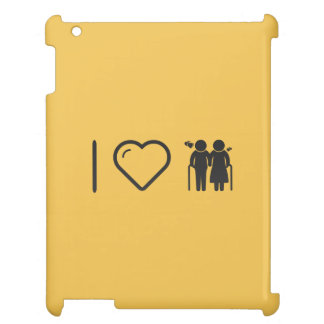 Cool Elderly Lovers iPad Cover