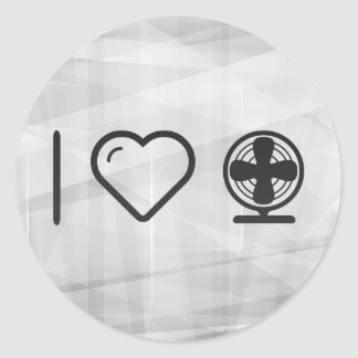 Cool Electric Fans Classic Round Sticker