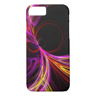 cool electric neon yellow fuschia laser abstract iPhone 7 case