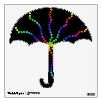 Cool Electric Rainbow Pop Art Wall Decal