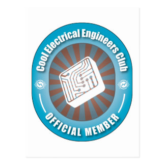 Cool Electrical Engineers Club Postcard