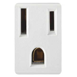 Cool electrical outlet rectangular photo magnet