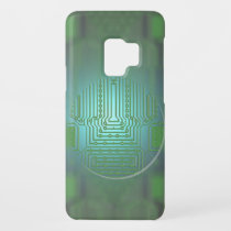 Cool Electronic Circuit Board | Textured Glass Case-Mate Samsung Galaxy S9 Case