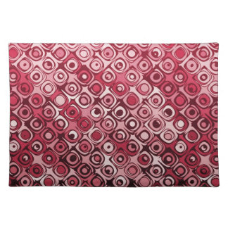 Cool elegant abstract cherry red placemat cloth placemat