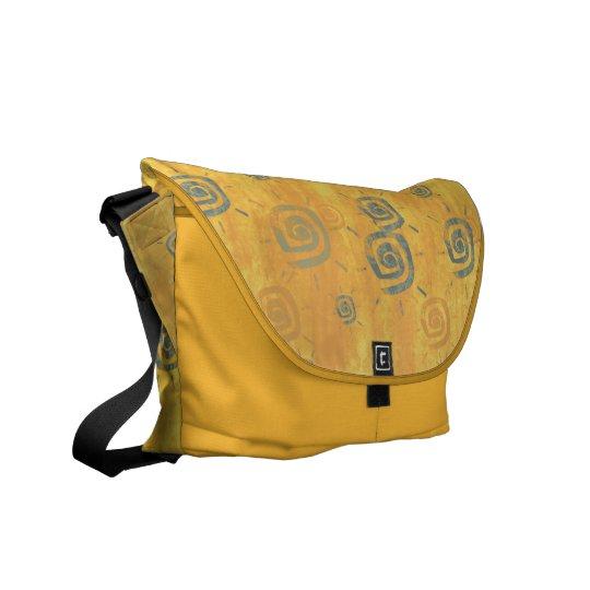Cool elegant abstract orange sun messenger bag
