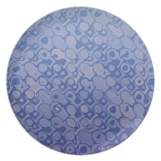 Cool elegant abstract pattern blue plate