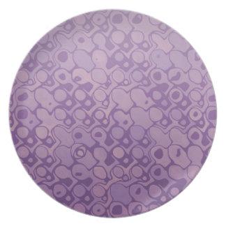 Cool elegant abstract pattern light purple plate