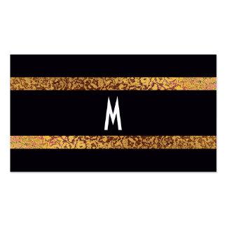 Cool Elegant Black/Gold Modern Retro Save-the-Date Business Card