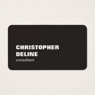 Cool Elegant Bold Ivory Black White Consultant Business Card