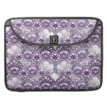 Cool Elegant Distressed Purple Lace Damask Pattern Sleeves For MacBooks