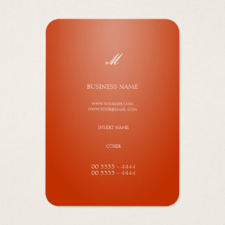 Cool Elegant Orange Business Card