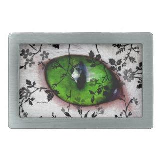Cool Elegant Vintage Floral Eye of Cat Belt Buckle