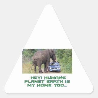cool Elephant designs Triangle Sticker