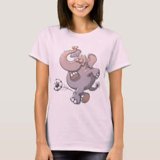 Cool elephant executing a stunt with a soccer ball T-Shirt