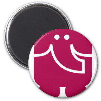 Cool Elephant icon design 2 Inch Round Magnet