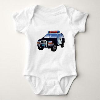 Cool Emergency Police Car Cartoon Design for Kids Baby Bodysuit