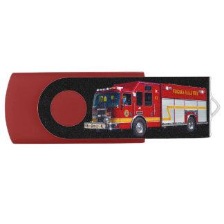 Cool Emergency Vehicle Fire Engine Fire-truck Flash Drive