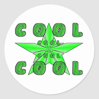 """COOL"" emitting 3D star Classic Round Sticker"