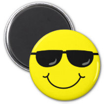 Cool Emoji Face with Sunglasses Magnet