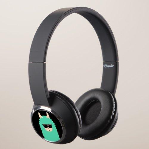 Cool Emoji Llama Headphones