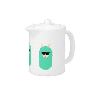 Cool Emoji Llama Teapot