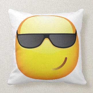 Cool Emoticon Throw Pillow