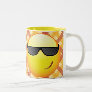 Cool Emoticon Two-Tone Coffee Mug
