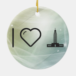 Cool Empire Buildings Double-Sided Ceramic Round Christmas Ornament