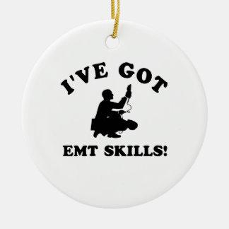 Cool EMT SKILLS  designs Ceramic Ornament
