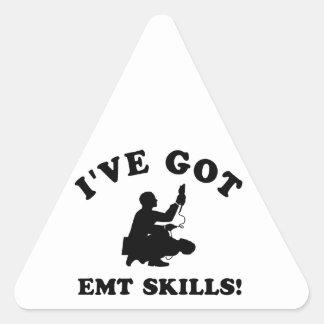 Cool EMT SKILLS  designs Triangle Sticker